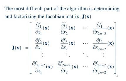 حل دستگاه معادلات به روش نیوتون رافسون